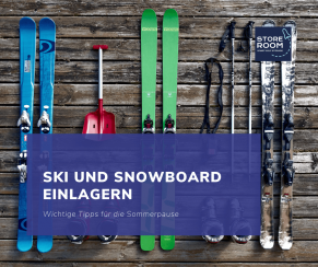 Ski und Snowboard Einlagern store room