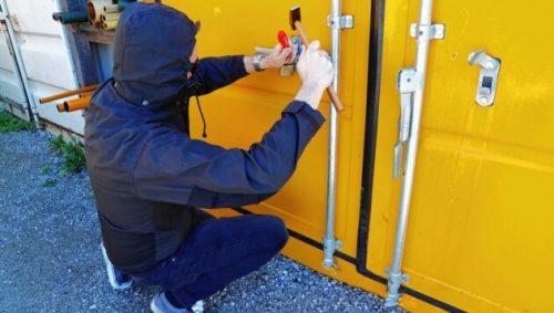 Lagercontainer Sicherheit