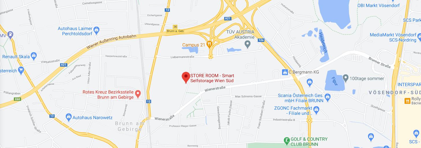 Store Room Wien Süd Smart Selfstorage Map
